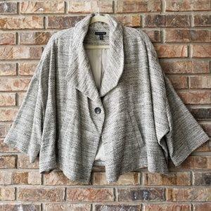 Eileen Fisher Cropped A-Line Tweed Swing Jacket